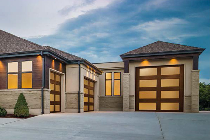 Modern Garage Doors - Canyon-Ridge  - Full-View Design