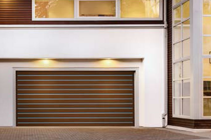 Modern Garage Doors - Canyon-Ridge  - Metal Inlay Design