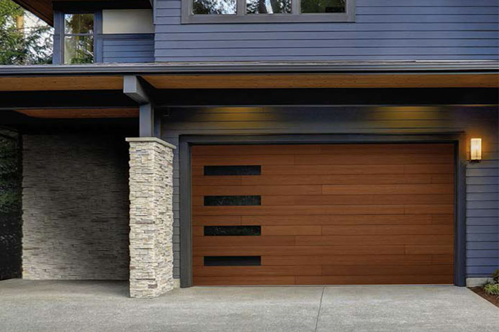 Modern Garage Doors - Canyon-Ridge - Plank Design