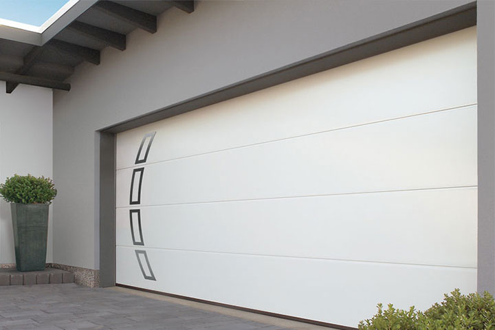 Modern Garage Doors - Taurus, Hormann - Arch Shaped Applique