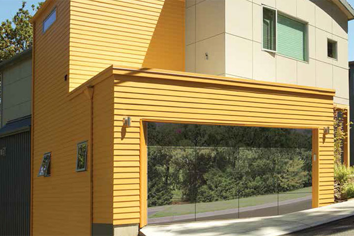 Modern Garage Doors - Aluminum Model 8450 Luminous 3