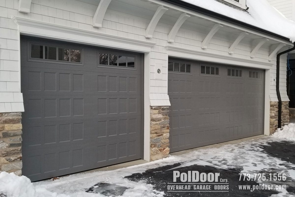 Amarr Carriage Steel Insulated Garage Door, Recessed Panels, Northbrook, IL