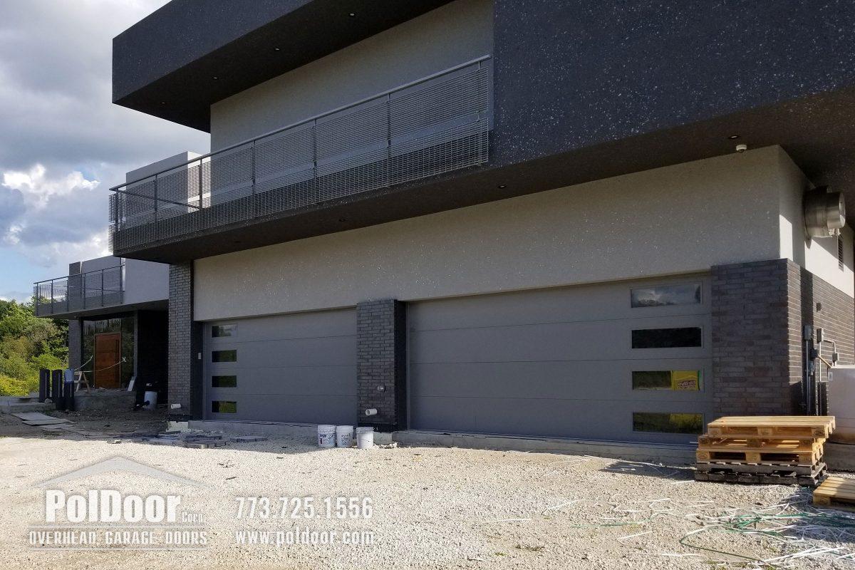 Modern Hormann Gray Garage Door, Darien, IL