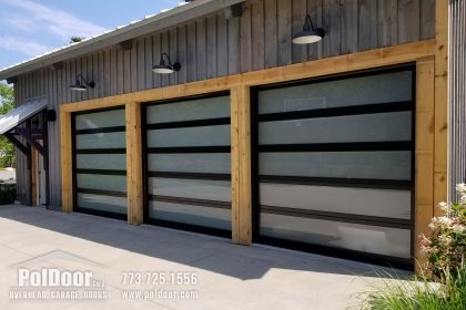 New Modern Hormann Aluminum Garage Door, Union, MI
